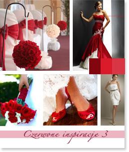Czerwone inspiracje ślubne