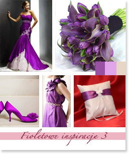 Fioletowe inspiracje ślubne