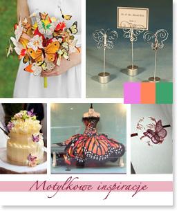 Motylkowe inspiracje ślubne