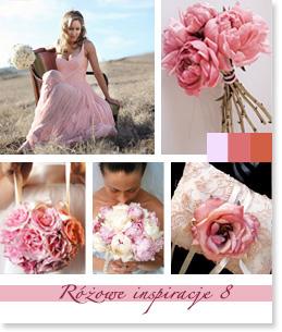 Różowe inspiracje ślubne