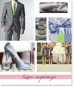 Szare inspiracje ślubne