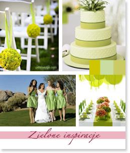 Zielone inspiracje ślubne